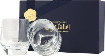 Johnnie Walker Blue Label 2 Whisky-Tumbler Kristallglas