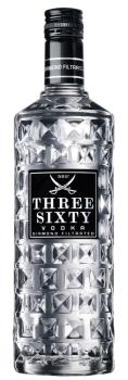 Three Sixty Vodka 37,5 % vol. Literflasche